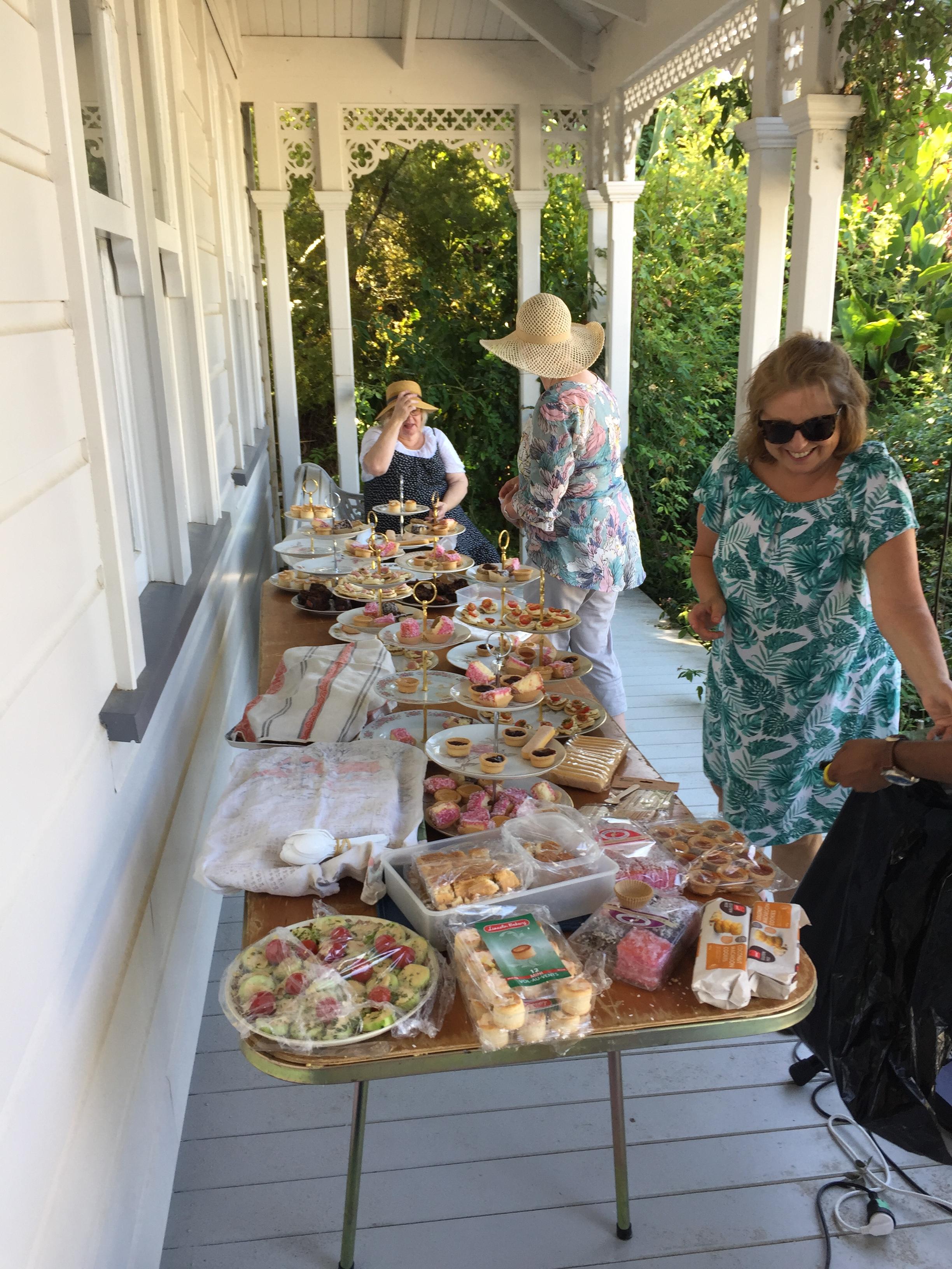 Gardne Party preparations